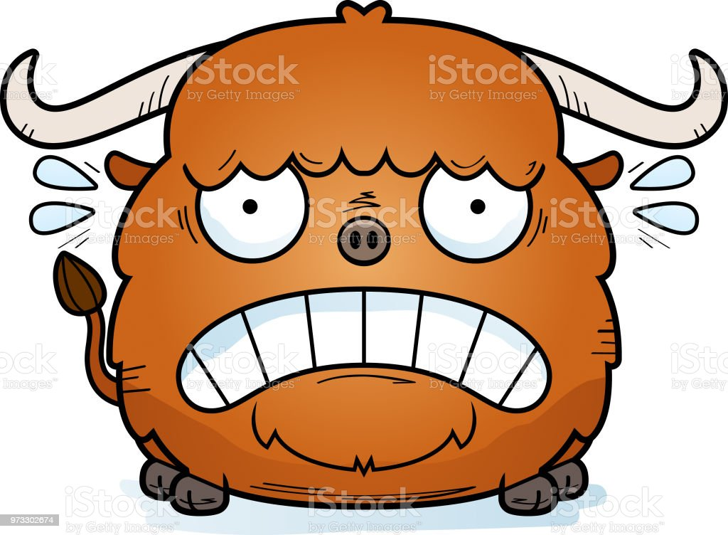 Image result for fear of yak cartoon