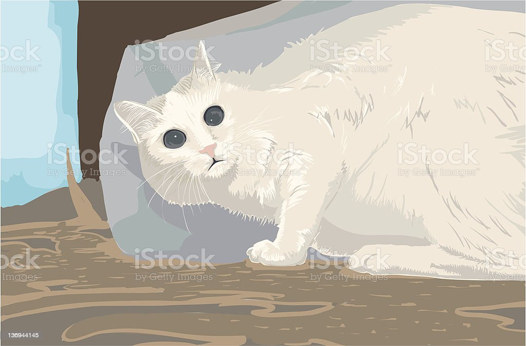 scared cat royalty-free stock vector art