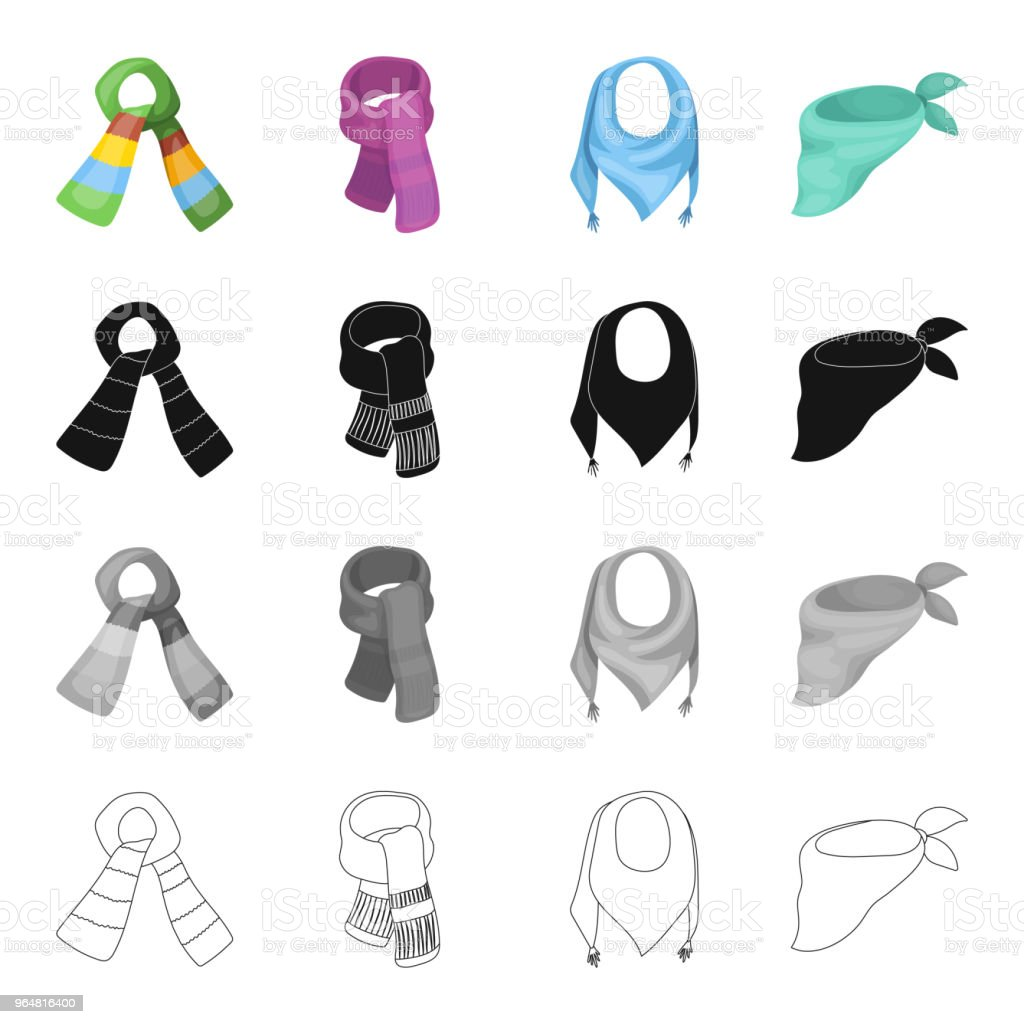 Scarf, accessories, clothing, and other web icon in cartoon style.Knitwear, jewelry, textiles, icons in set collection. royalty-free scarf accessories clothing and other web icon in cartoon styleknitwear jewelry textiles icons in set collection stock vector art & more images of clothing