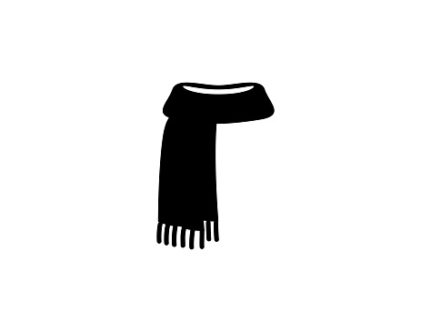 Scarf icon. Isolated scarf symbol - Vector