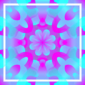 modern contemporary colorful floral and frame pattern