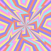 modern contemporary colorful retro geometric zigag lines pattern