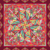 modern contemporary colorful floral style pattern