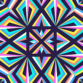 modern contemporary geometric switching colorful pattern on dark violet