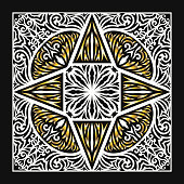 modern contemporary luxury floral black white and golden pattern