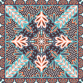 contemporary ethnic floral and leaves pattern