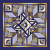 contemporary luxury ethnic egyptian geometric scarf pattern