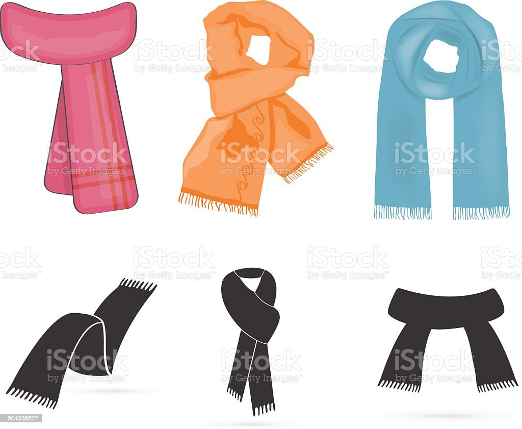 royalty free scarf clip art vector images illustrations istock rh istockphoto com scarf clipart png scarf clipart black and white