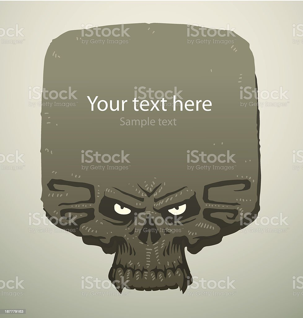 Scary banner skull square royalty-free scary banner skull square stock vector art & more images of art