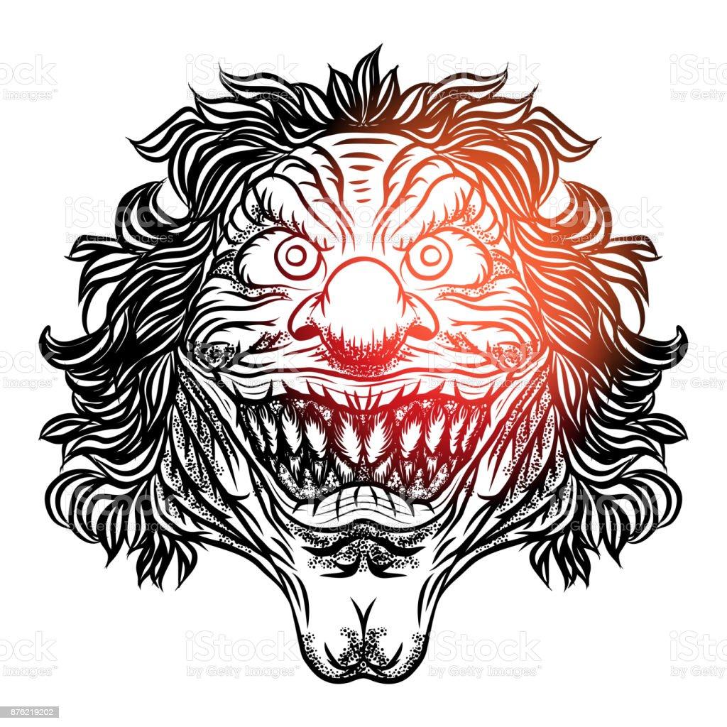 Desenho Palhaço Tatuagem vetores de ilustração de palhaço assustador dos desenhos