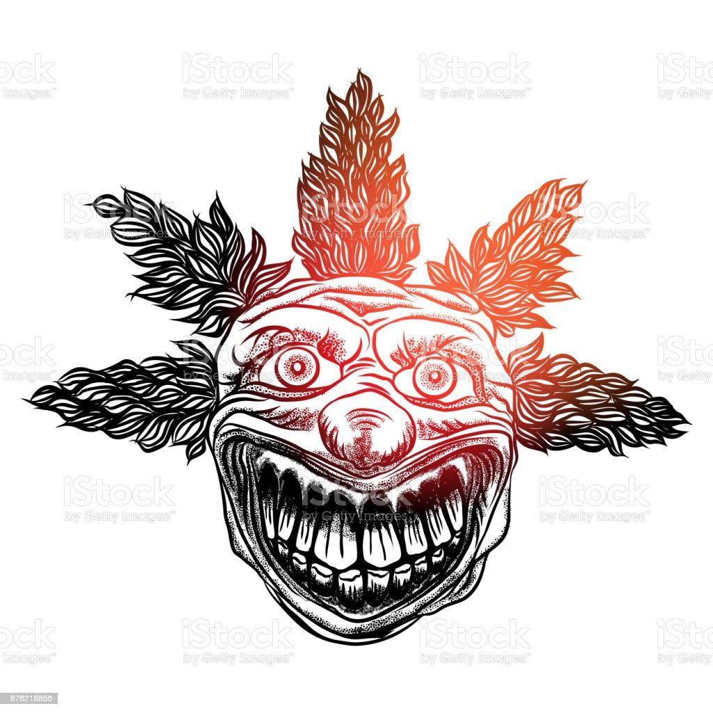 Concept Tete De Clown Effrayant De Personnage De Film Horreur Cirque