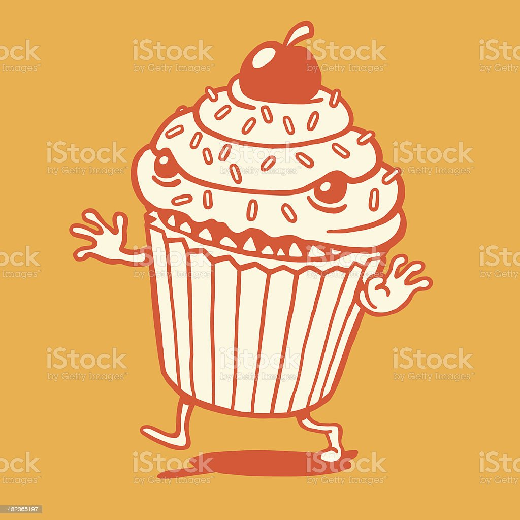 Scary Cupcake Running royalty-free scary cupcake running stock vector art & more images of aggression