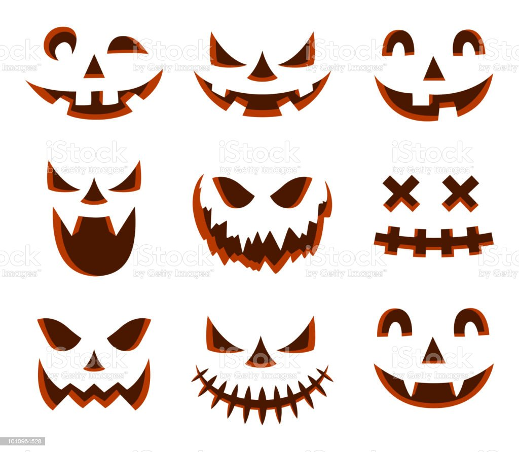 Scary Halloween Pumpkin Face Icon Stock Illustration Download Image Now Istock
