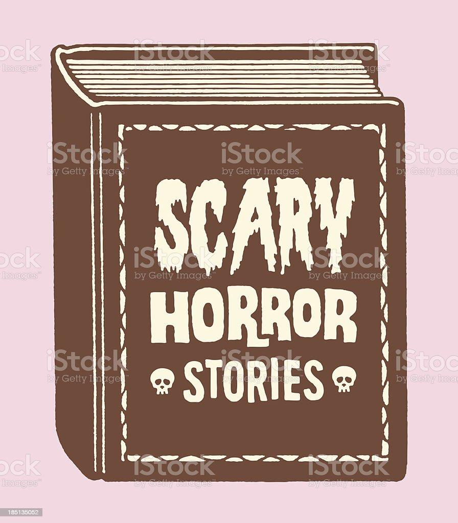Scary Horror Stories Book vector art illustration