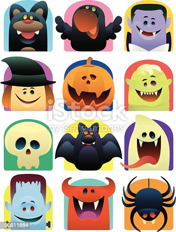 istock scary icons 96611884