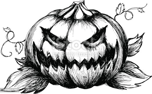 scary jack olantern stock vector art  u0026 more images of