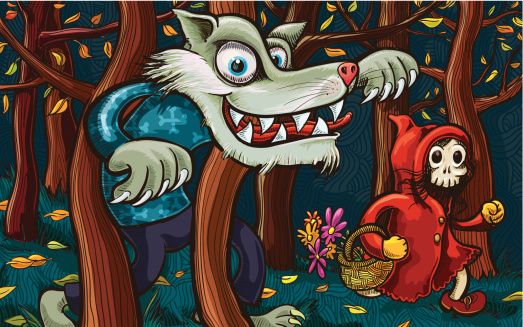 Scary Little Red Riding Hood and Big Bad Wolf