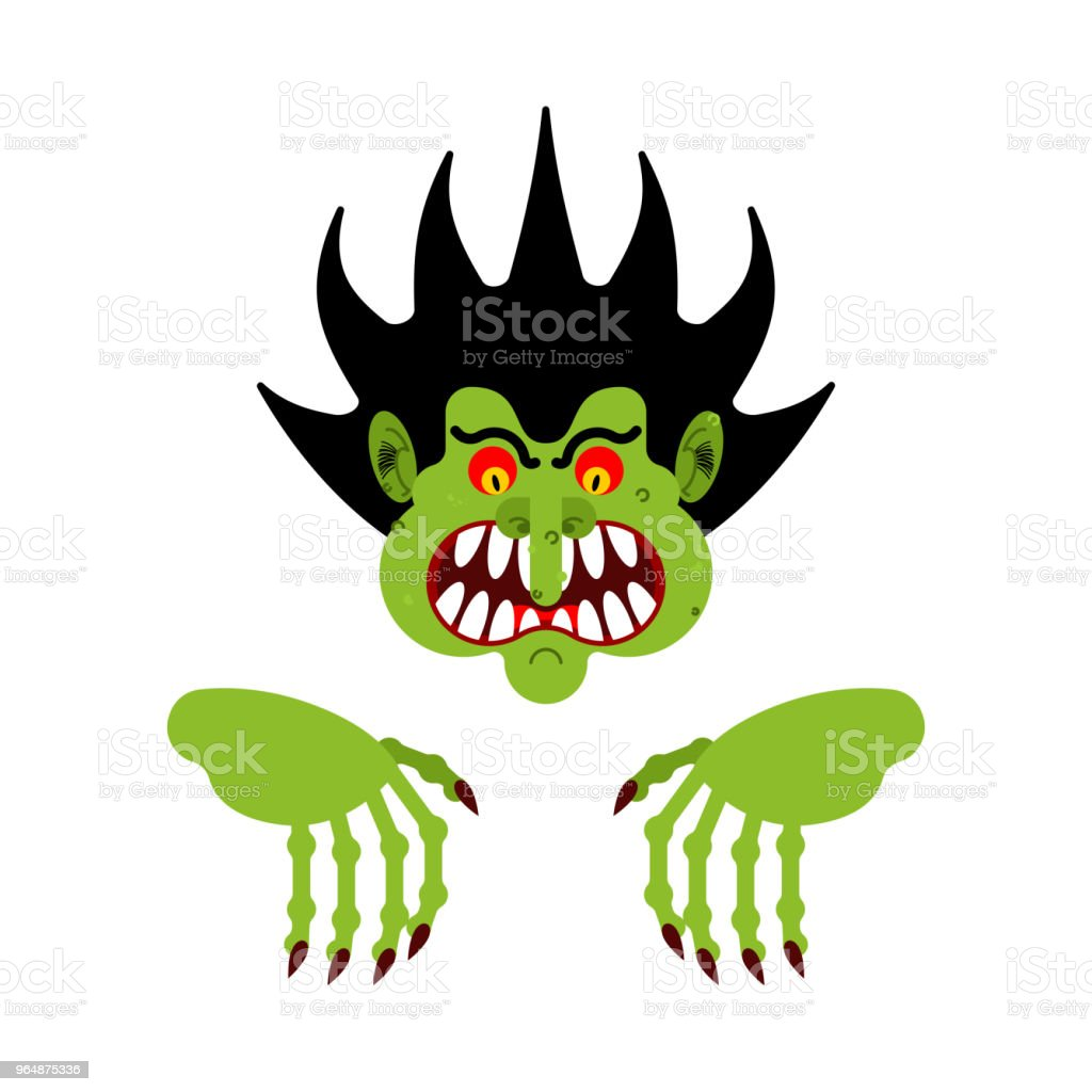 Scary man. Nightmare monster with long claws. Vector illustration royalty-free scary man nightmare monster with long claws vector illustration stock vector art & more images of abstract