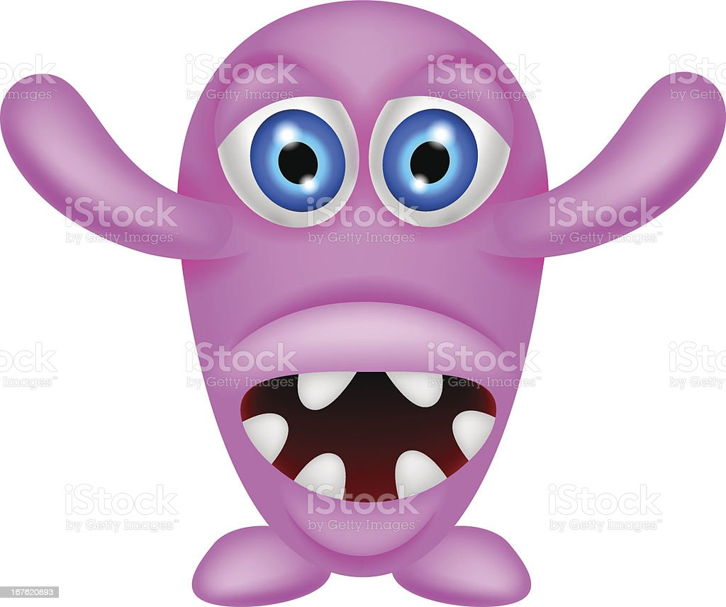scary pink monster royalty-free stock vector art