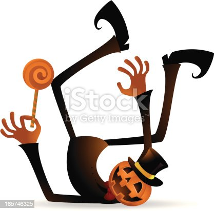 istock Scary Pumpkin Jack O' Lantern Fall Down 165746325