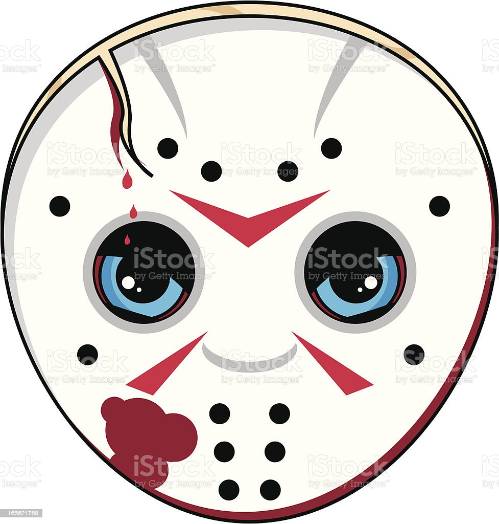 Scary Serial Killer Mask vector art illustration