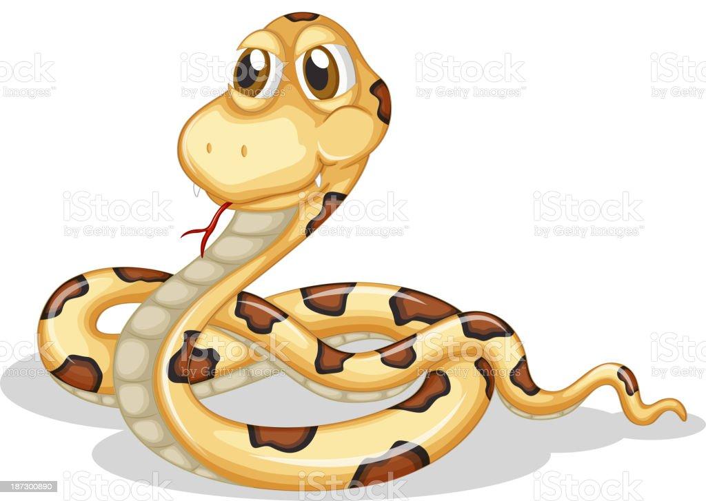 scary snake royalty-free stock vector art