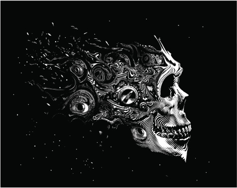 Scary Space Skull