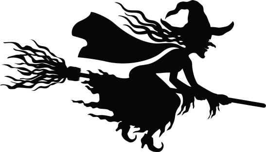 Scary Witch Silhouette