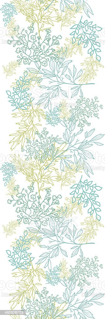 Scattered blue green branches vertical seamless pattern background royalty-free scattered blue green branches vertical seamless pattern background stock vector art & more images of abstract