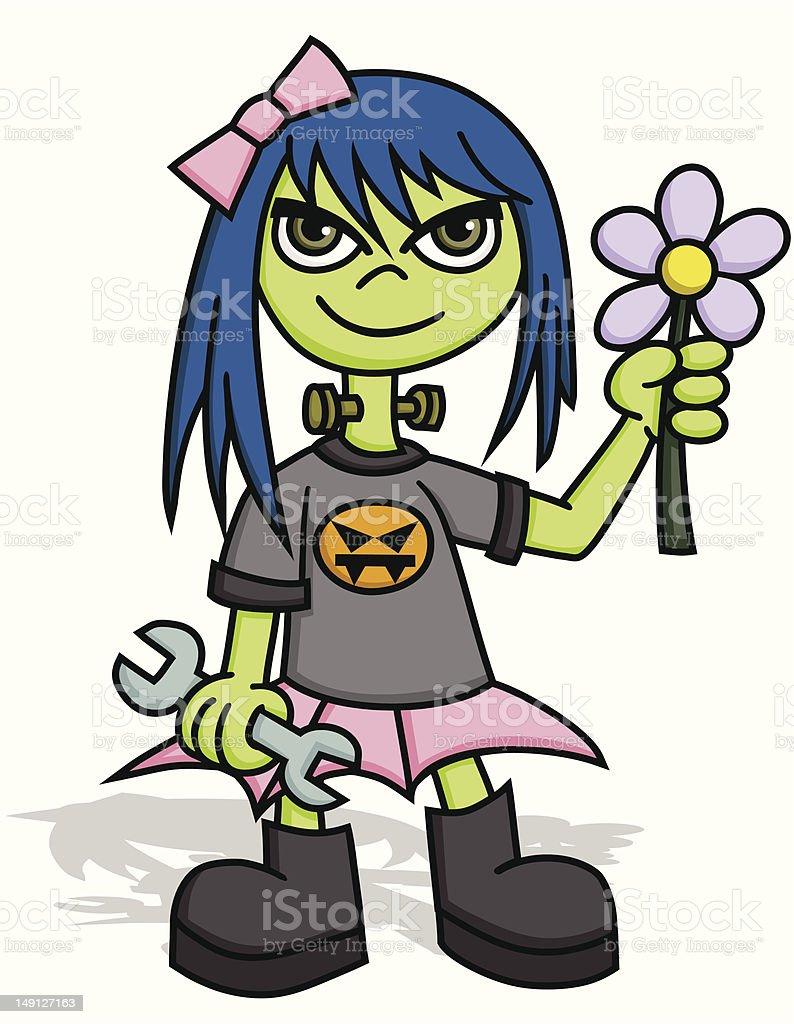 Scene Frankenstein Girl royalty-free scene frankenstein girl stock vector art & more images of adult