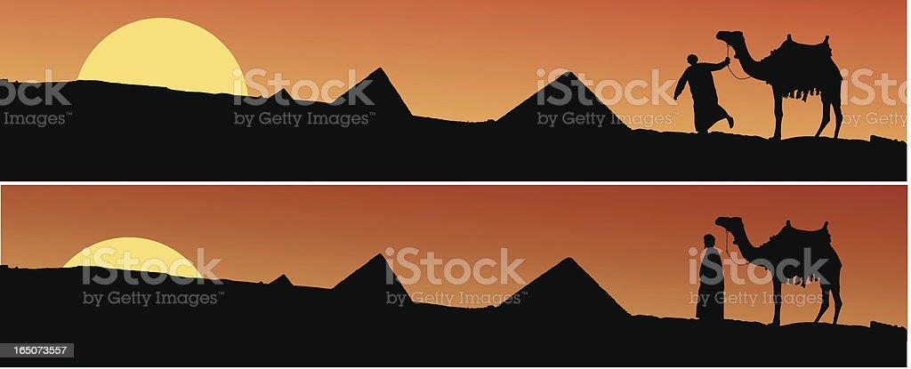 Scene from Egypt vector art illustration