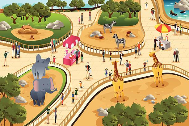 シーンの動物園 - 動物園点のイラスト素材/クリップアート素材/マンガ素材/アイコン素材