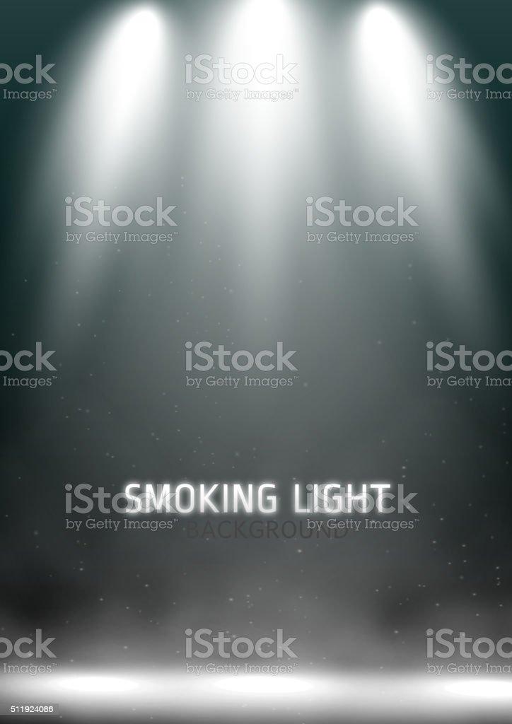 Scene spotlights vector art illustration