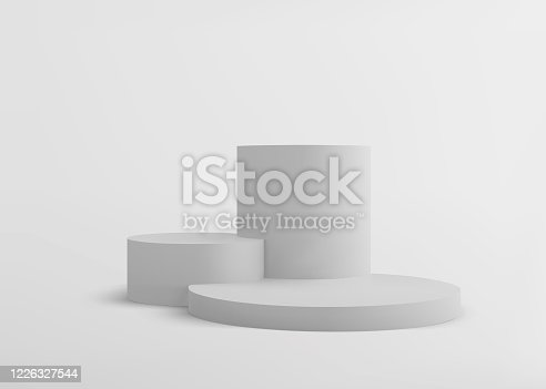 istock 3D  Scene with Abstract  Stage Podium Form 1226327544