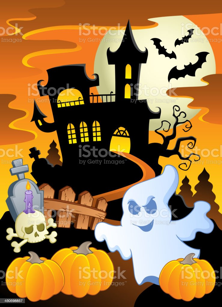 Scene With Halloween Theme 5 Royalty Free Scene With Halloween Theme 5 Stock Vector Art