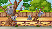 istock Scene with wild animals in the zoo at day time 1207239177