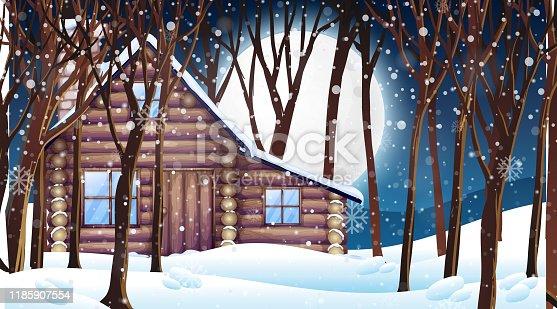 Winter Landscape Hut And Frozen Clipart Images