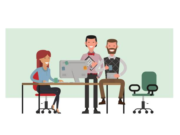 Office People Working. Clip Art, Vector Images ...