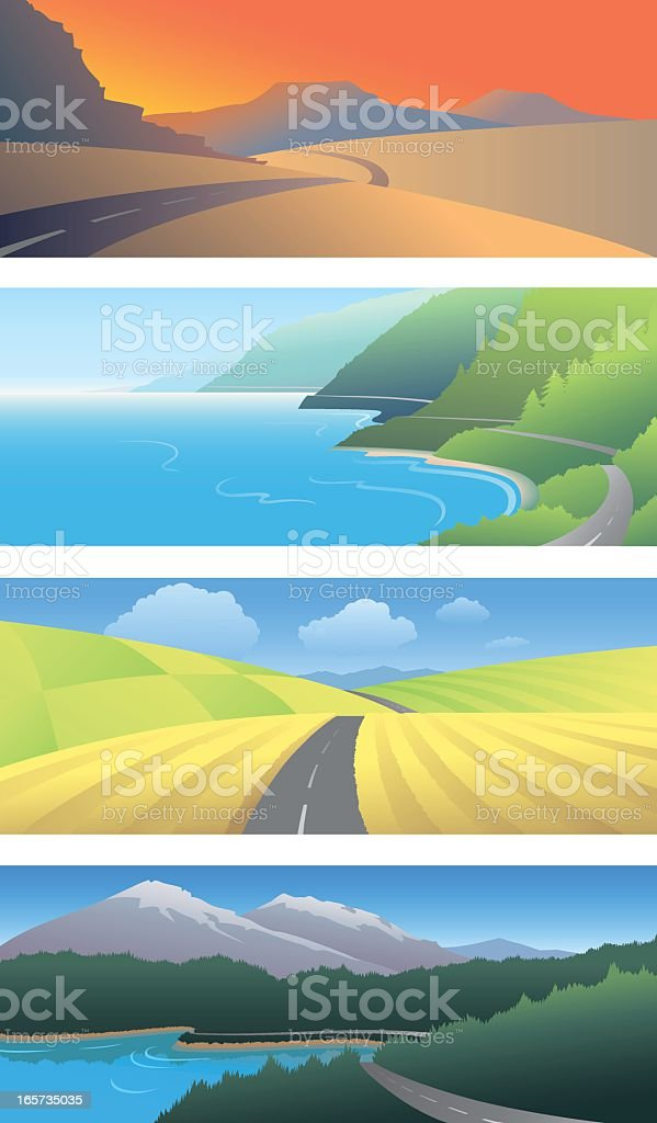 Scenic Panels vector art illustration