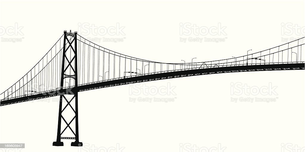Scenic Vancouver Vector Silhouette royalty-free scenic vancouver vector silhouette stock vector art & more images of bridge - built structure