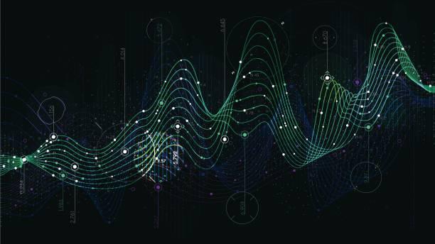 zeitplan-statistik-daten, analytische indikator science-fiction-hintergrund - geometriestunde grafiken stock-grafiken, -clipart, -cartoons und -symbole