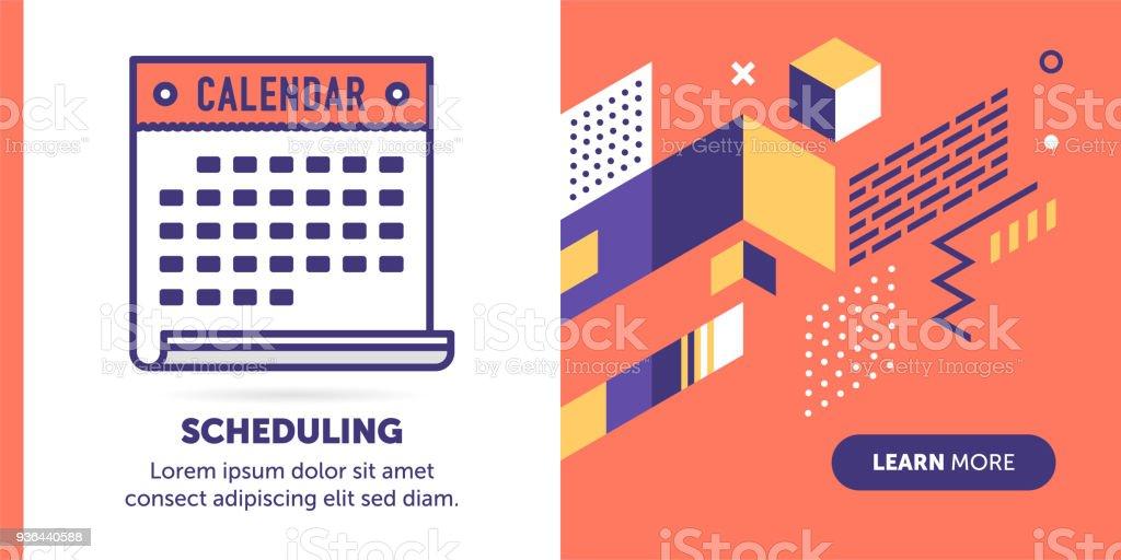 Scheduling Banner vector art illustration