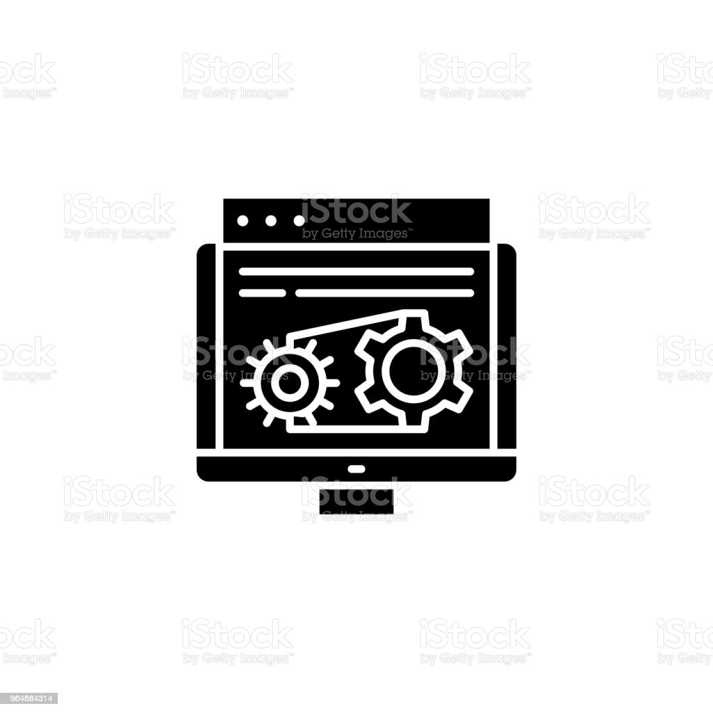 Schematic diagram black icon concept. Schematic diagram flat  vector symbol, sign, illustration. royalty-free schematic diagram black icon concept schematic diagram flat vector symbol sign illustration stock vector art & more images of abstract