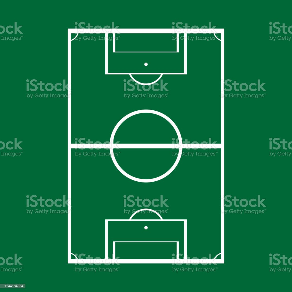 Schematic Drawing Of A Football Field Top View Vector Illustration