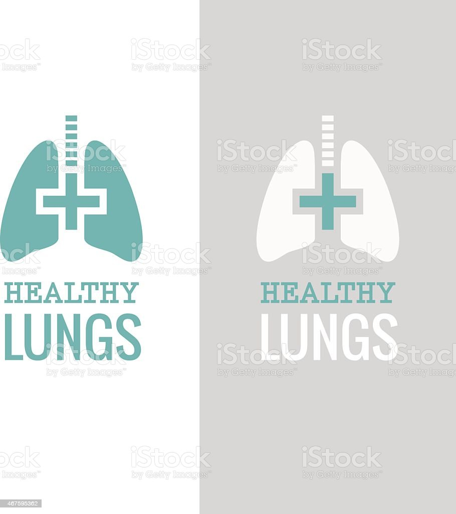 Schematic template for a health lungs campaign vector art illustration