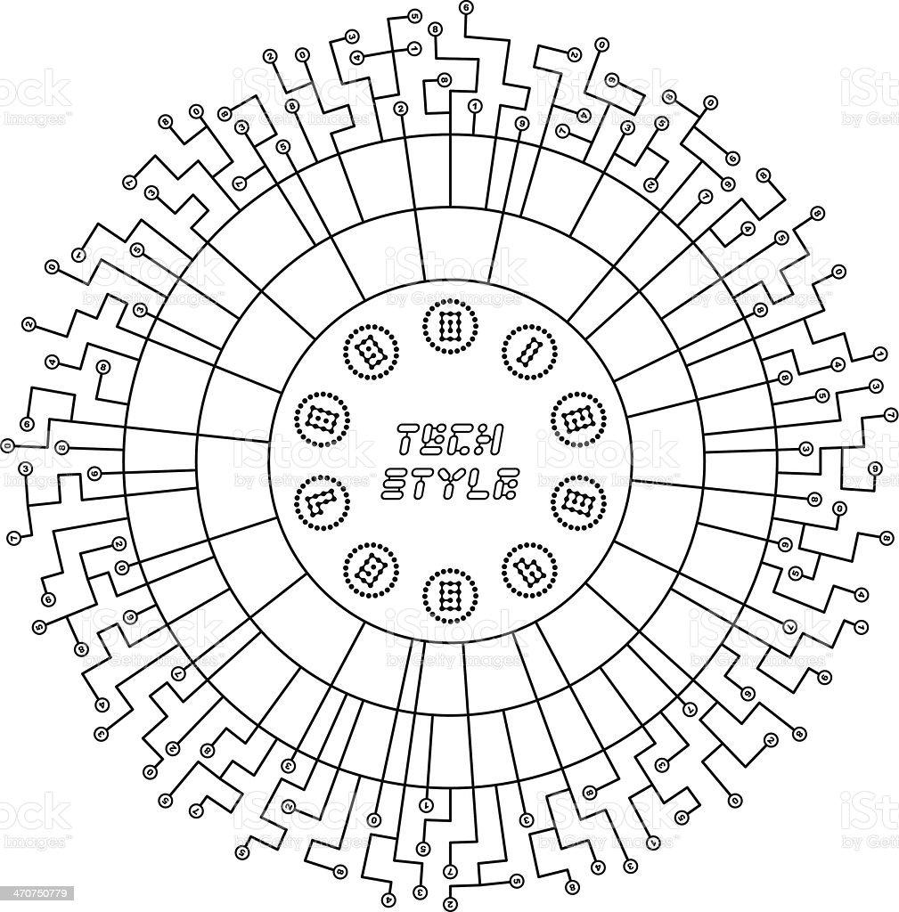 Scheme. royalty-free stock vector art