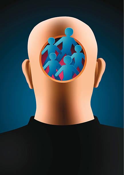 Schizophrenia vector art illustration