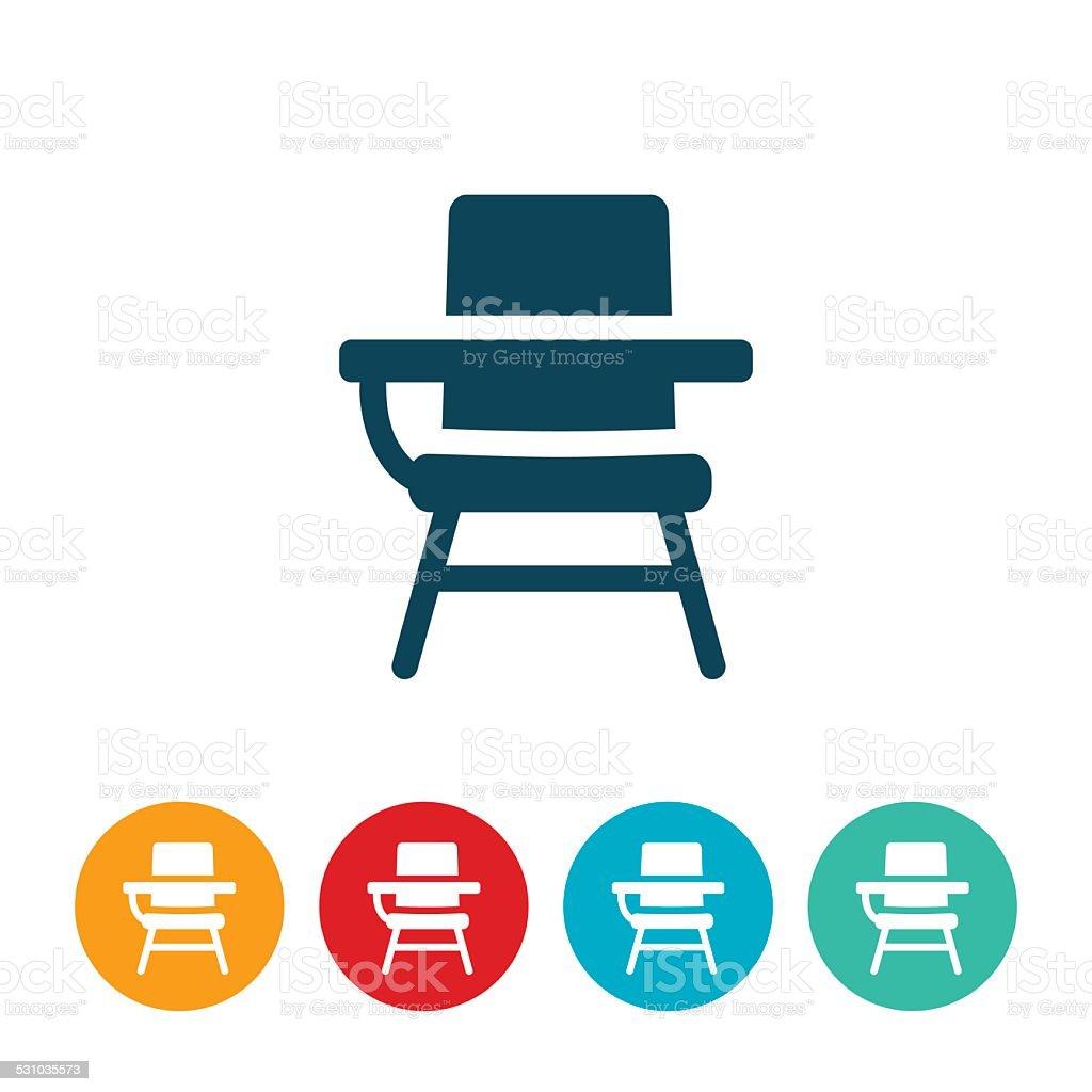 Schol Desk Icon vector art illustration