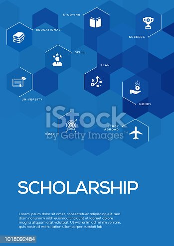Scholarship. Brochure Template Layout, Cover Design