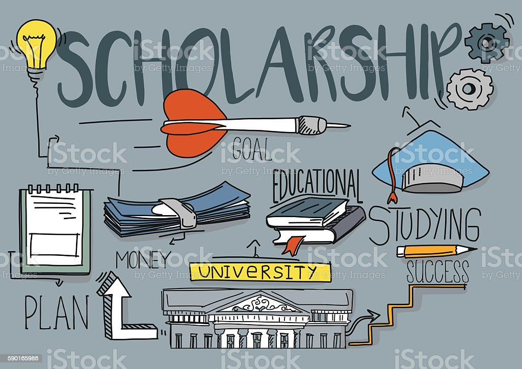 Scholarship Concept vector art illustration